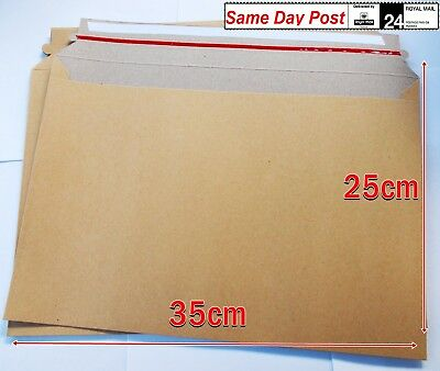 Envelopes cardboard Brown Mailers 300gsm Large B4 (250mm x 350mm ) 10pcs to x100