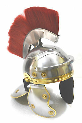 Roman-Centurion-Head-EAGLE-Shape-Armour-Helmet-W-Red-Crest-Plume