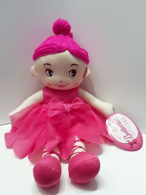 Toi-Toys Weichpuppe Puppe Stoffpuppe Ballerina rosa 35cm Nr.02