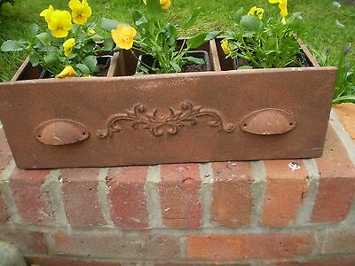 Gorgeous Scrolled Drawer Garden Window Box Planter