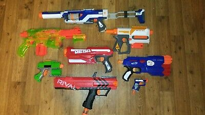 Nerf Gun Arsenal! Total of 8 Guns Including Rival & Praxis!