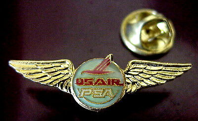 Us Air Piedmont Psa Airlines Merger Gold Tone Metal And Epoxy Mini Wing Pin