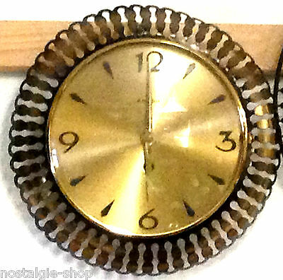 50er 60er Wall Clock Mechanical,50s Watch Manual Winding half Stundengong mid