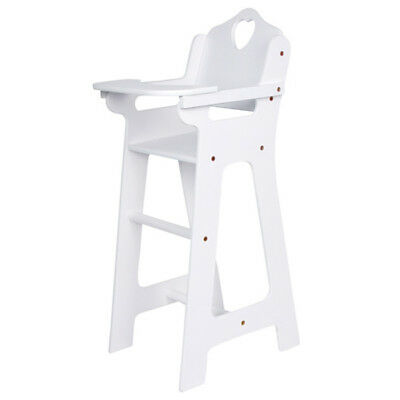Doll High Chair White 63cm Stool Dining Table Wood Wooden Game