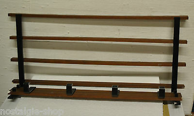 60er 70er Cloakroom Wall Coat Rack Hat Rack Mounting Lounge Wood 60s 70s