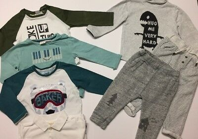 Bundle Outfit Ted Baker ZARA Printed Tops Polo Joggers Age 12-18 Months