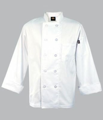 Dc122 Paolo Dickies Classic Chef Coat In White Size 2Xl Xxl Brand New With Tags