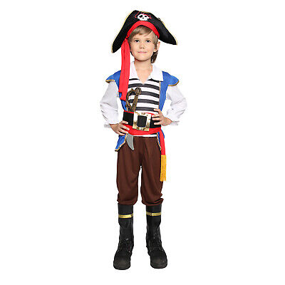 Kids Child Boys Pirate Halloween Costume Cosplay Outfit