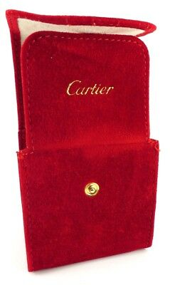 Cartier Genuine Watch Suede Travel Pouch Case With Cushion