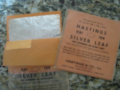 Silver Leaf..2-25 Leaf Packs +.999 fine...letter on glass, guild pic frames etc