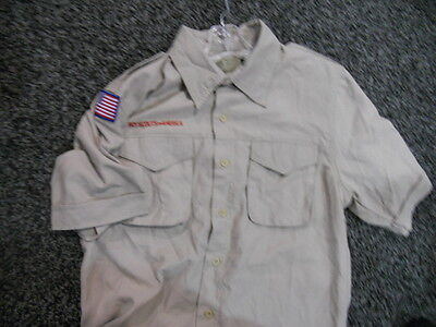 Lot Of 4 New Youth Boy Scout Short Sleeve Shirts Large Free Ship