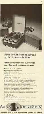 1959 vintage ad for Columbia Portable Stereo '1'  -083112