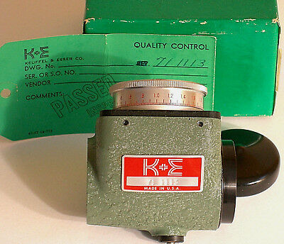 K&E optical micrometer 71-1113 metric. Fits 71-3010 level 71-1014 transit, etc.