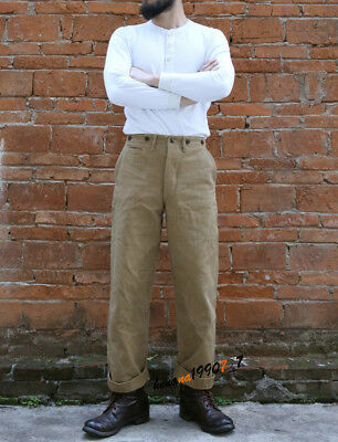 2018 New Heavy Duty Khaki Pants Mens Loose Military Trousers Overalls Jumpsuits