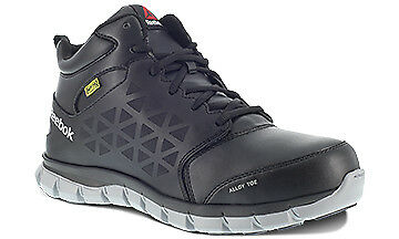 Reebok RB4143 Sublite Cushion Work Safety Toe Int Met Guard Athletic Mid Boots