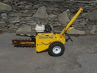 "Ground Hog T-4 18"" Walk Behind Gas Trencher Honda Engine Digger Excavator Used"