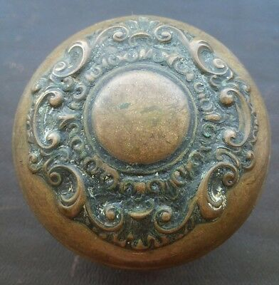 Antique Brass Bronze Victorian Door Knob - Ornate and Beautiful