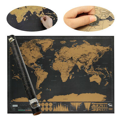 Deluxe Rubbel Weltkarte Scratch Off World Map Poster-Karte Landkarte zum Neu