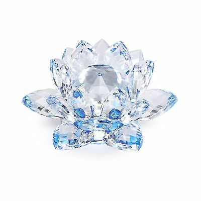 OwnMy 4 Inch Sparkle Crystal Lotus Flower Hue Reflection Feng Shui Home Decor...