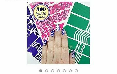 H La Casedora 510nail Art Stencils Vinyl 22 Different Shapes Big Hearts Zig-zag Health & Beauty