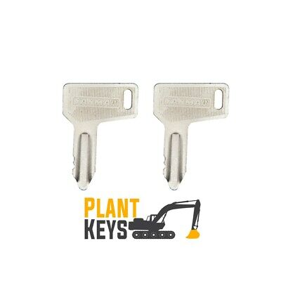 Yanmar 301 (Set of 2) Excavator Keys 933110 Wheel Loader