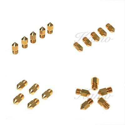 Kamo 5PCS 3D Printer 0.4mm Extruder Brass Nozzle Head For MK8 1.75mm ABS PLA
