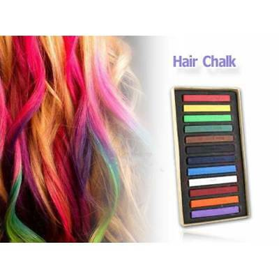 12 24 36 48 Colors Temporary Washable Non-Toxic Girls Hair Chalk Pastel Dye Kits