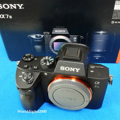 SONY A7M3 ILCE-7M3 A7 III Only Body  Full Frame 4K HDR 11 Languages Selectable !