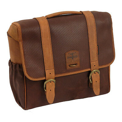 longride Saddlebag Classic from waxcotton Brown, For Harley Davidson