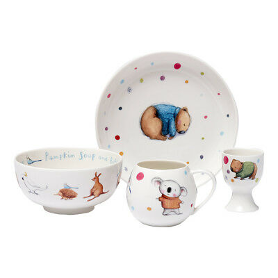 NEW Ashdene Barney Gumnut & Friends Kids Dining Set 4pce