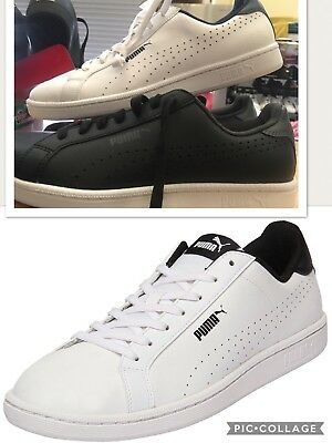 Mens PUMA Leather Smash Perf Jogger, Sneaker, Casual Shoes. Black or white/Navy