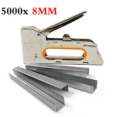 UK 4/6/8mm Heavy Duty Tacker Staple Gun Upholstery Stapler With 5000 x Staples