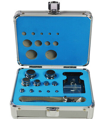 M1 Grade 1mg-200g Stainless Steel Scale Calibration Weight Kit Set w Certificate