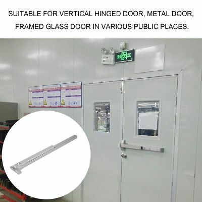 Door Push Bar-Panic Exit Device Lock With Handle Emergency Hardware Fast QN