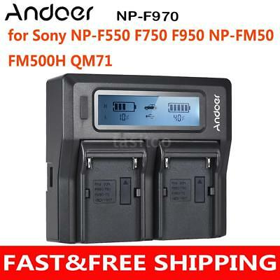 Andoer NP-F970 Camera Battery Charger Plate for Sony NP-F550 F750 F950 NP-FM50