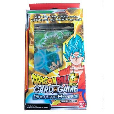 Dragon Ball Super TCG Galactic Battle Special Pack Set. New and Sealed.