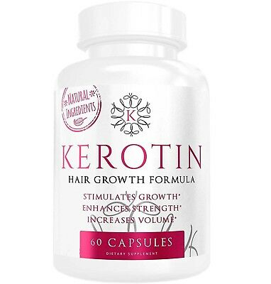 Kerotin Hair Growth Vitamins, Authentic 60 capsules - FASTEST EXPRESS DELIVERY!
