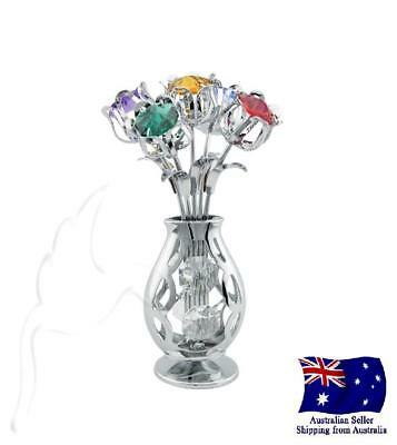 CRYSTOCRAFT Tulips in Vase with SWAROVSKI Crystals
