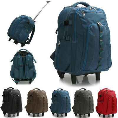 Travel Bags Backpack Rucksack Luggage Trolley Wheels Large For Men Women School