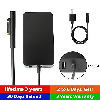 Power Supply for Microsoft Surface Pro 3, Pro 4, Book - AC Charger Cord Adapter