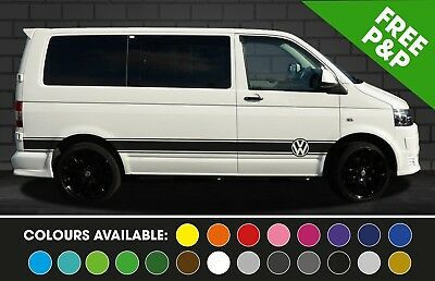 Volkswagen Vw Transporter T5 Side Stripes Stickers Decals Graphics