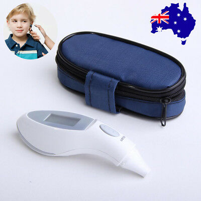 Ear Thermometer IR Infra-Red Digital LCD In-Ear for Baby/ Adult +Bag +Battery #d