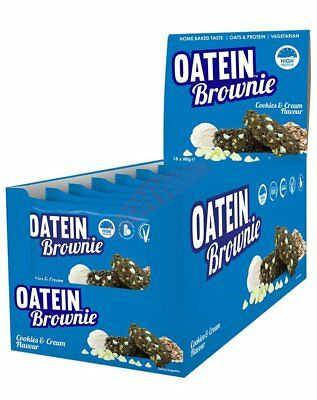 Oatein BROWNIE Box Of 15Pieces Highly Nutritious Dessert COOKIES & CREAM
