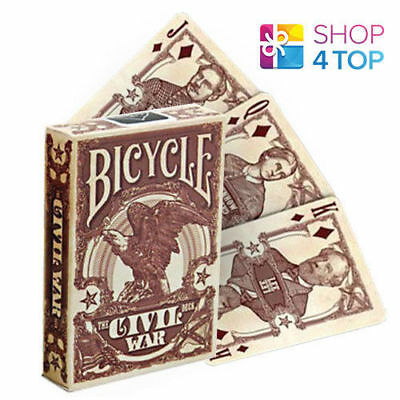 Bicycle Civil War Union Confederate Red Playing Cards Deck Poker Magic Tricks
