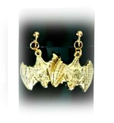Ohrringe Fledermaus gold Halloween Ohrclips Halloween Ohrhänger M4 127604213