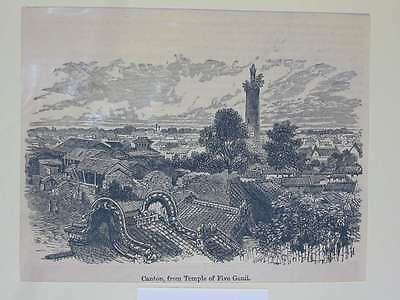 82375-Asien-Asia-China-Canton-Kanton-T Holzstich-Wood engraving