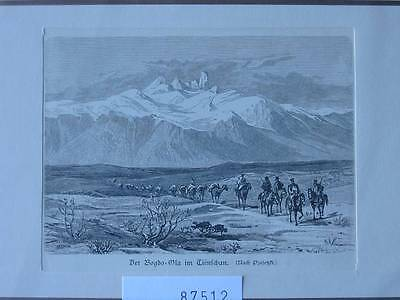87512-Asien-Asia-China-Bogdo Ola-Tienschan-T Holzstich-Wood engraving