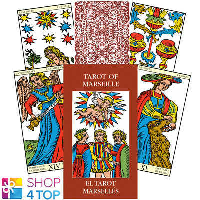 Mini Tarot Of Marseille Cards Esoteric Fortune Telling Lo Scarabeo New