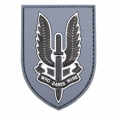 Emblem 3D PVC WHO DARES WINS Klett Patch Abzeichen  British Special Air Service