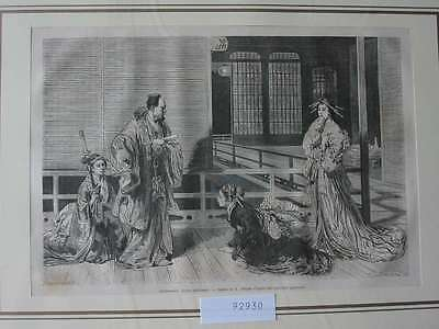92930-Asien-Asia-Japan-Nippon-Nihon-Aristocratie-T Holzstich-Wood engraving